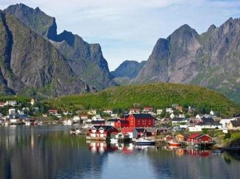 круизы в Норвегии, домики
